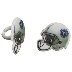 12  Tennessee Titans NFL Football Cupcake Rings Toppers Deco