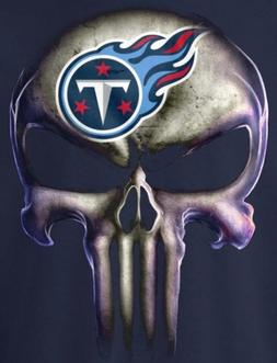 Tennessee Titans Punisher Skull Car Window Stickers 5x3.7 G
