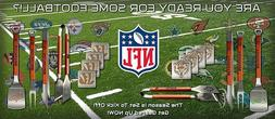 3-PIECE SET ALL NFL FOOTBALL TEAMS SPORTULA FORK TONG SPATUL