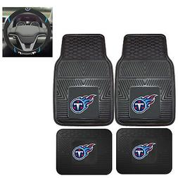 5pc NFL Tennessee Titans All Weather Rubber Floor Mats & Ste