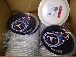 CASE LOT Tennessee Titans 8-Packs Lunch Plate Set 60 Packs T