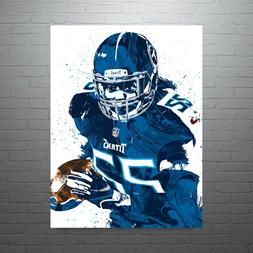 Derrick Henry Tennessee Titans Poster FREE US SHIPPING