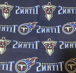 """DIY Mask Tennessee Titans NFL 1/8y 9""""x 27""""-Cotton Fabric"""