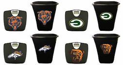 NFL Team Logo 2 Piece Bath Set Black Digital Bathroom Scale