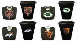 NFL Team Logo 2 Piece Bath Set Black Digital Bathroom Scale