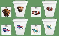FC432 2 PIECE SET NFL THEMED WHITE FINISH BATHROOM SCALE TRA