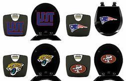 2 Pc Set NFL Team Logo on Black Digital Bathroom Scale and R