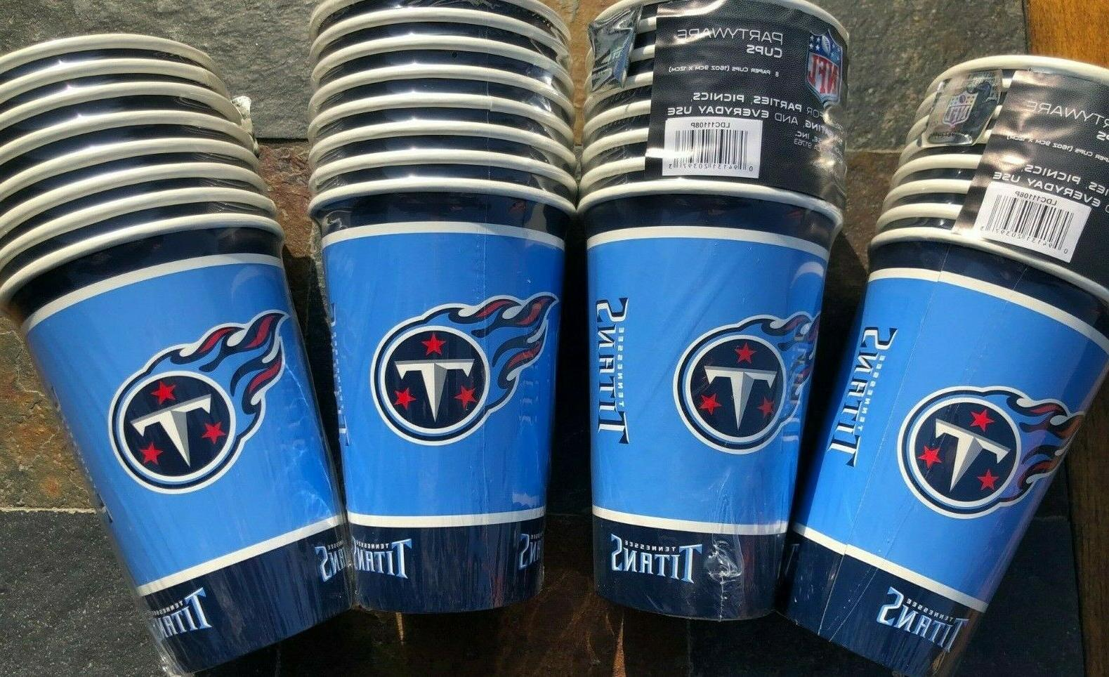 32 16 oz tennessee titans disposable paper