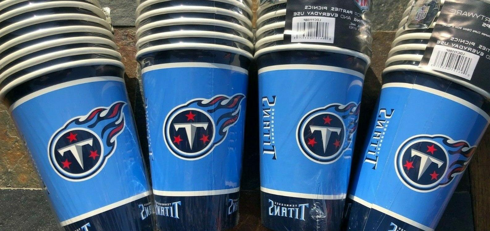 40 paper party cups tennessee titans 5