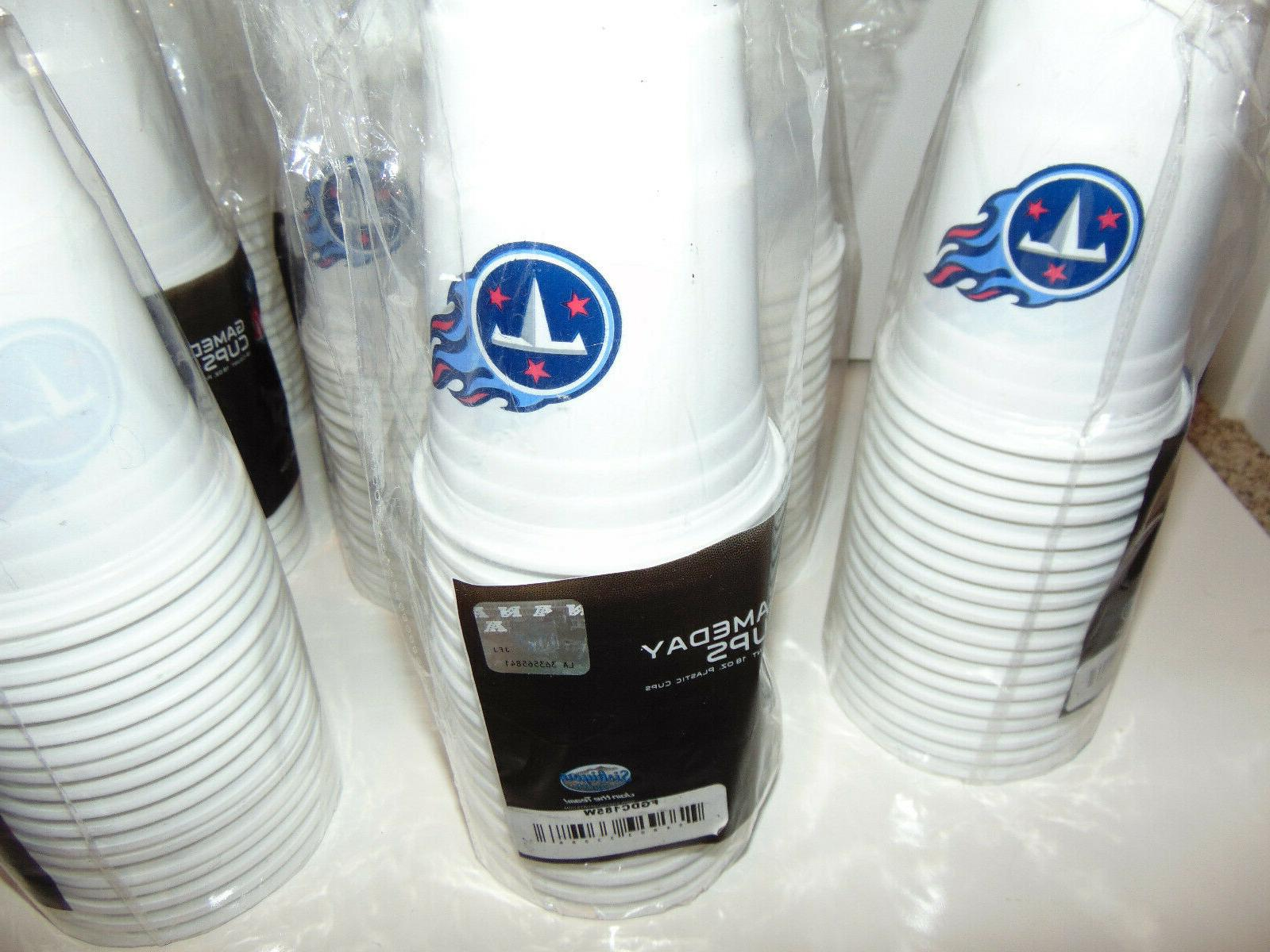 72) TENNESSEE TITANS GAMEDAY CUPS TAILGATE PARTY NEW
