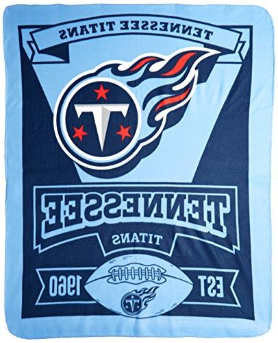 The NFL Tennessee Titans Marque Fleece Throw, 60-inch