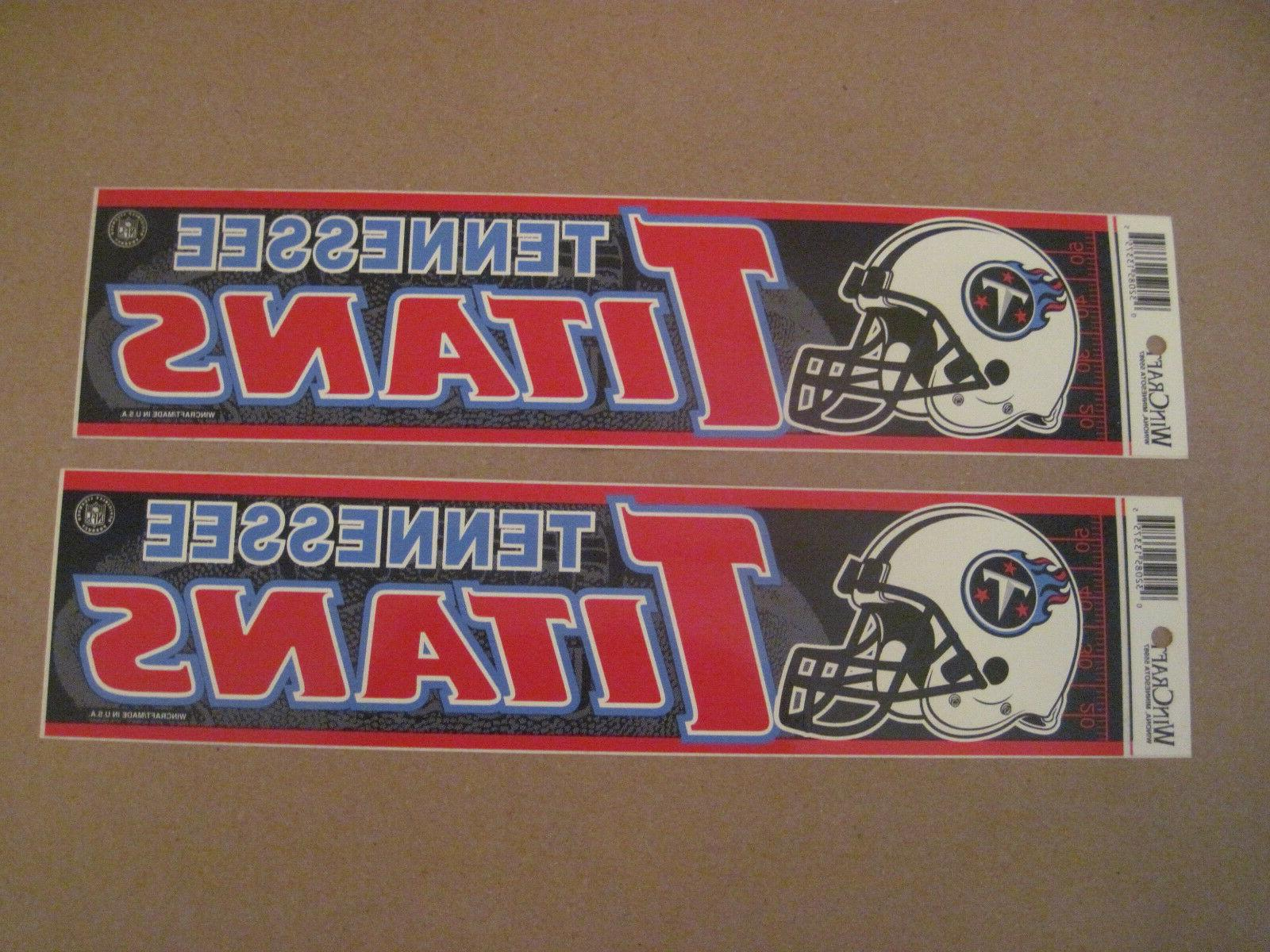 lot of 2 vintage tennessee titans wincraft