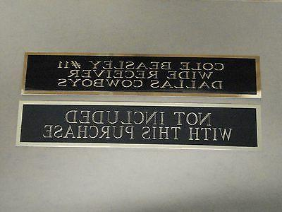 Marcus Nameplate Football Display Case 1.25 6