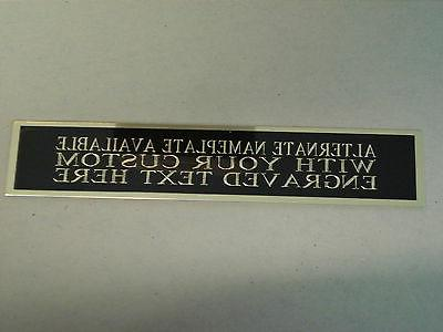 Marcus Nameplate For A Display Case 1.25 X 6