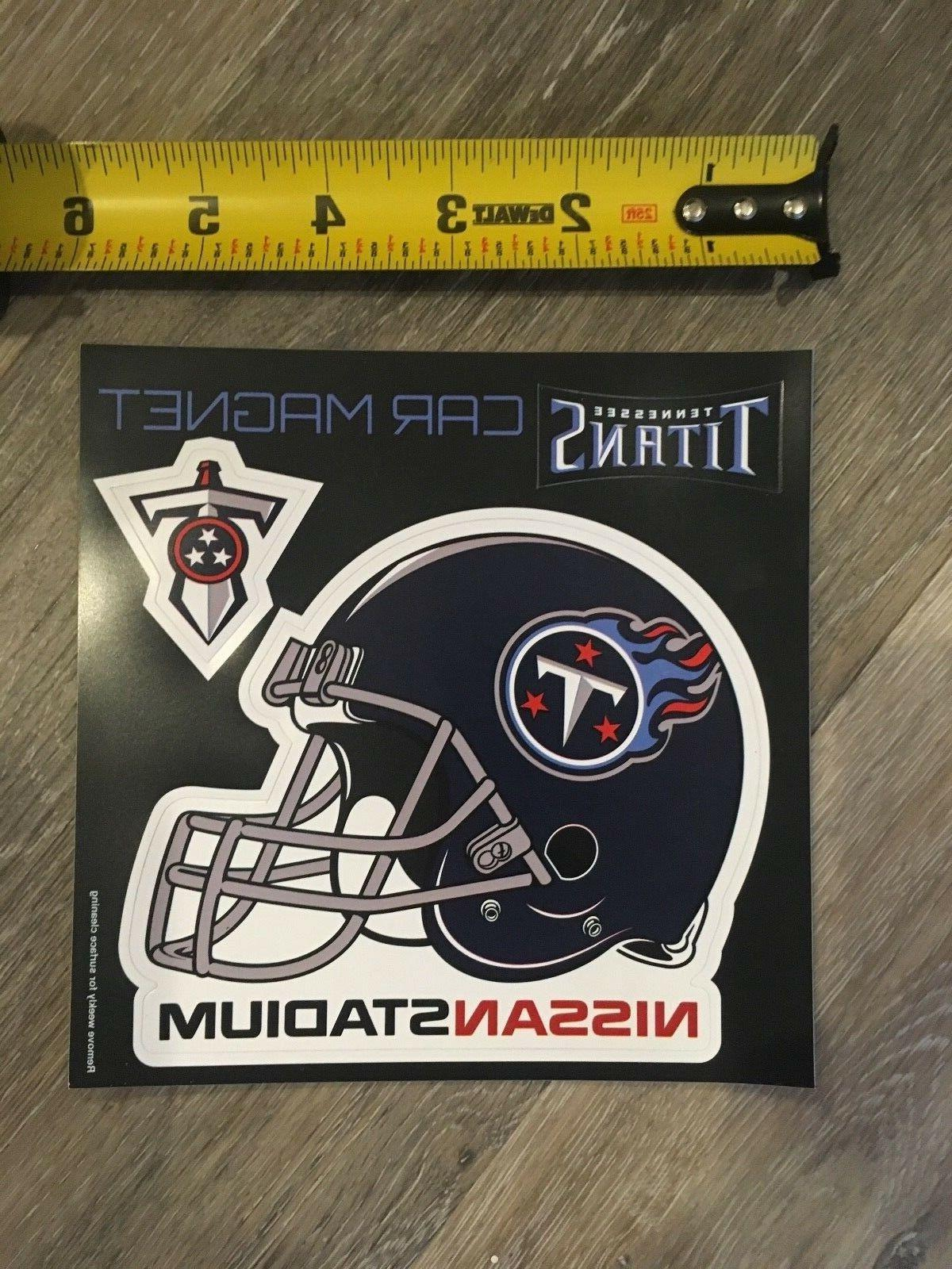 new nfl tennessee titans car magnet helmet