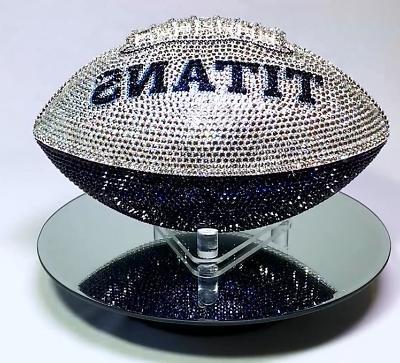 NEW Tennessee Football Made Swarovski® Crystals + Case