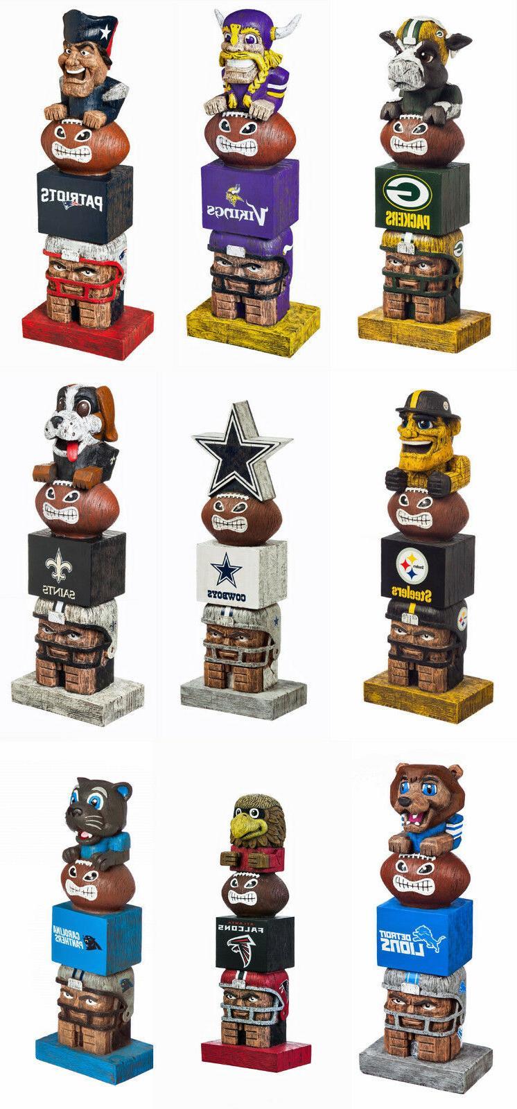 new nfl tiki totem licensed mascot figurine