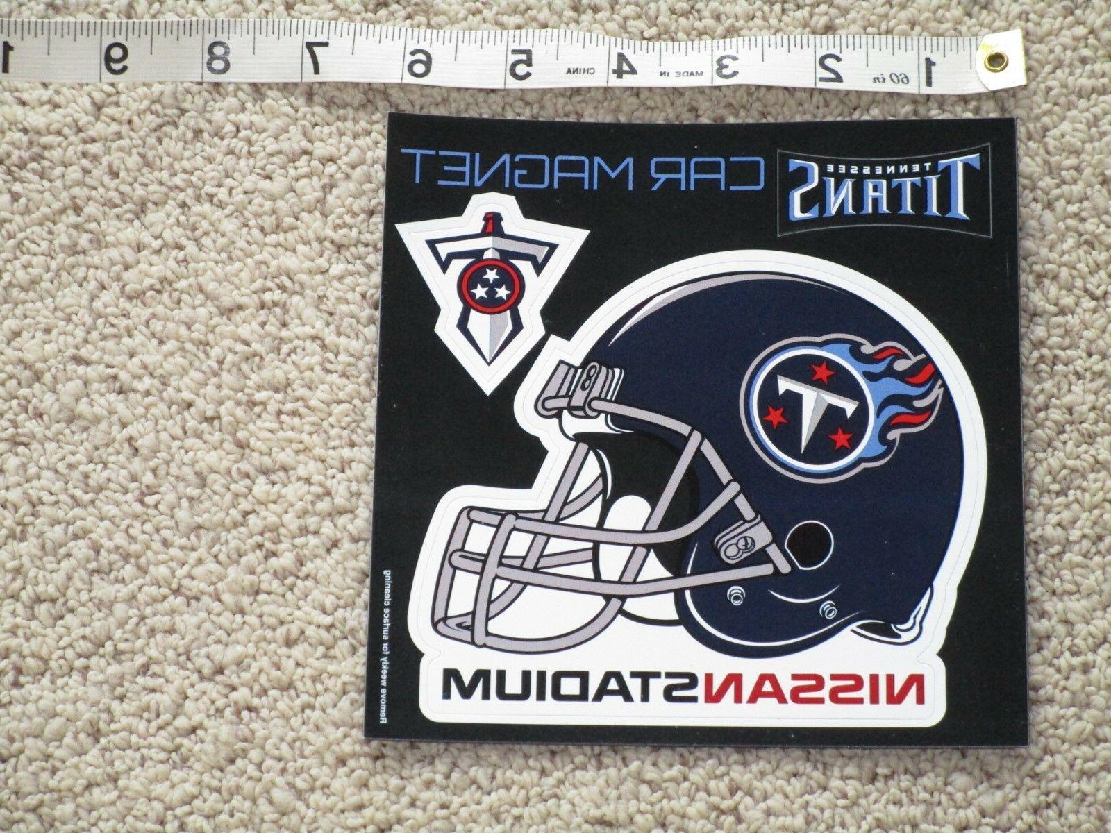 new tennessee titans helmet sword car magnet