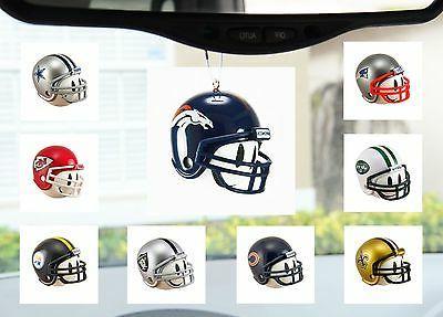 nfl football helmet auto ornament for mirror