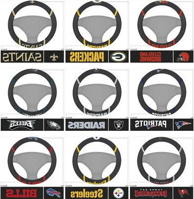 nfl steering wheel covers embroidered choose your
