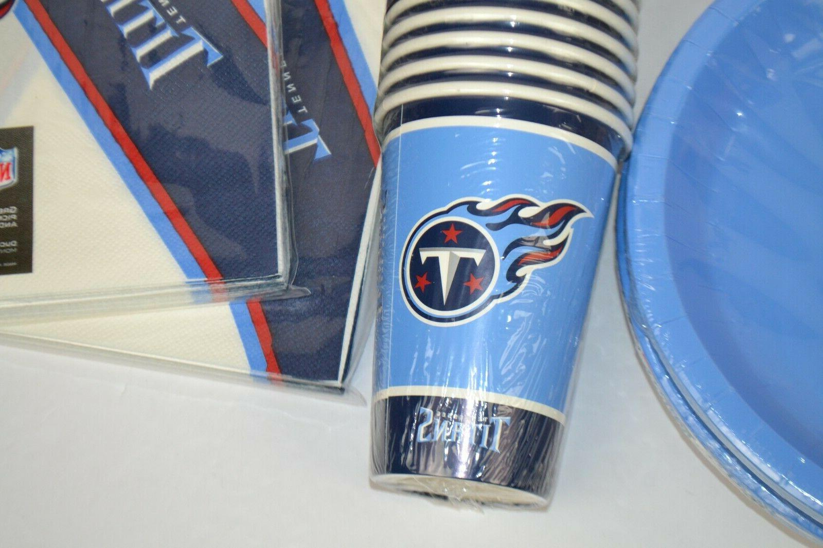 NFL Tennessee 16 Paper Cups, 16 and Napkins Party Supplies
