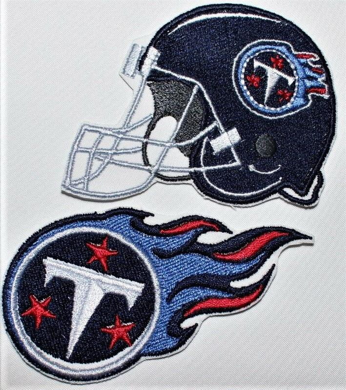 nfl tennessee titans embroidered iron on patch