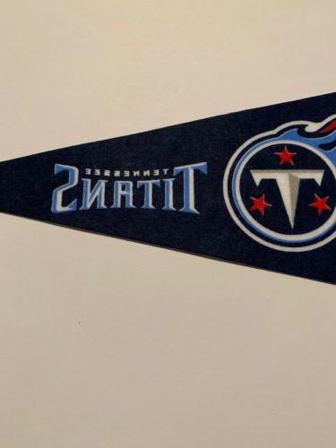 NFL Titans Pennant Football Decor