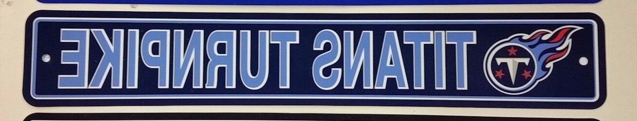nfl tennessee titans team street sign new
