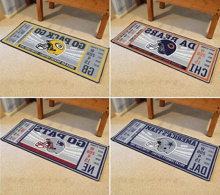 nfl ticket runner mats area rugs choose