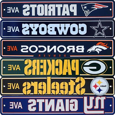 official nfl football street sign ave licensed