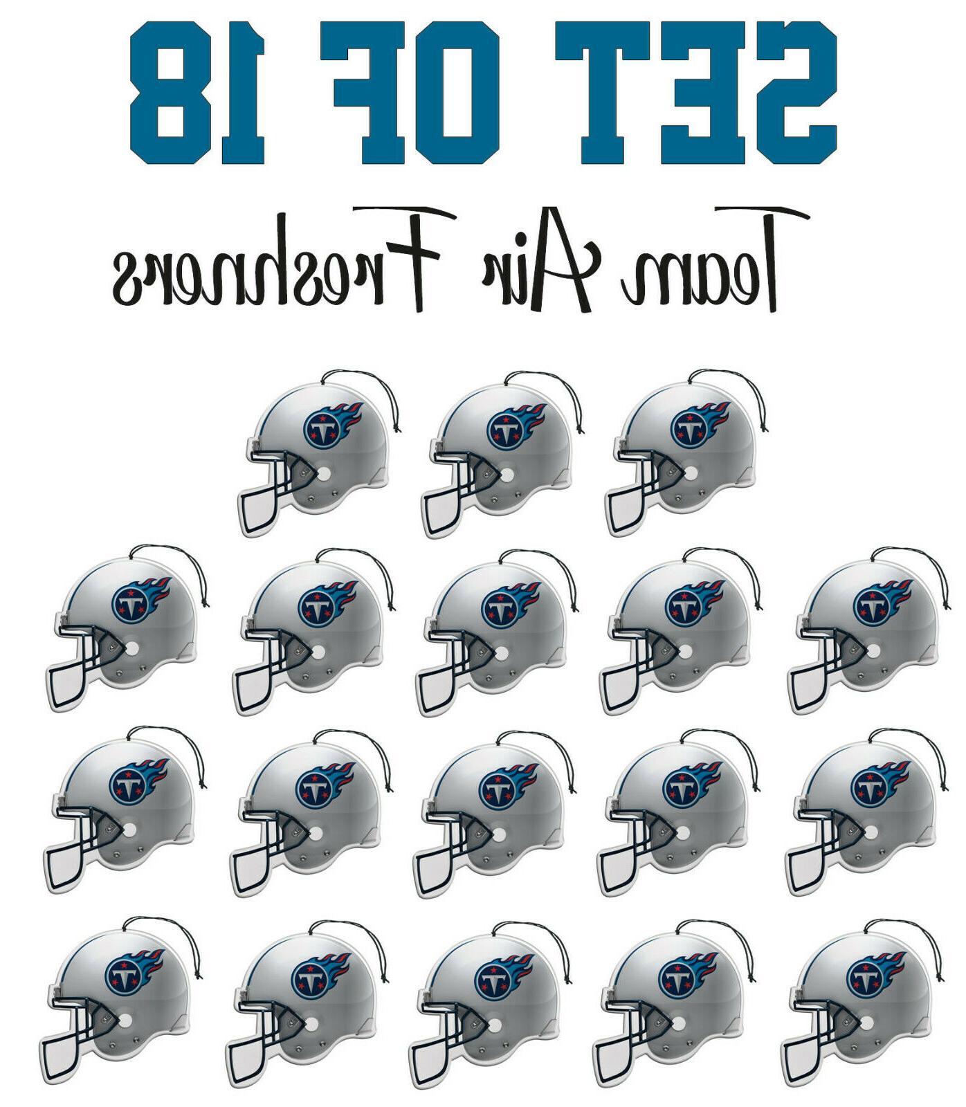 set of 18 tennessee titans team helmet
