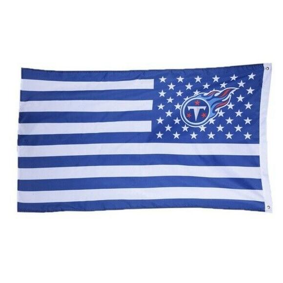 tennessee titans 3x5 foot american flag banner