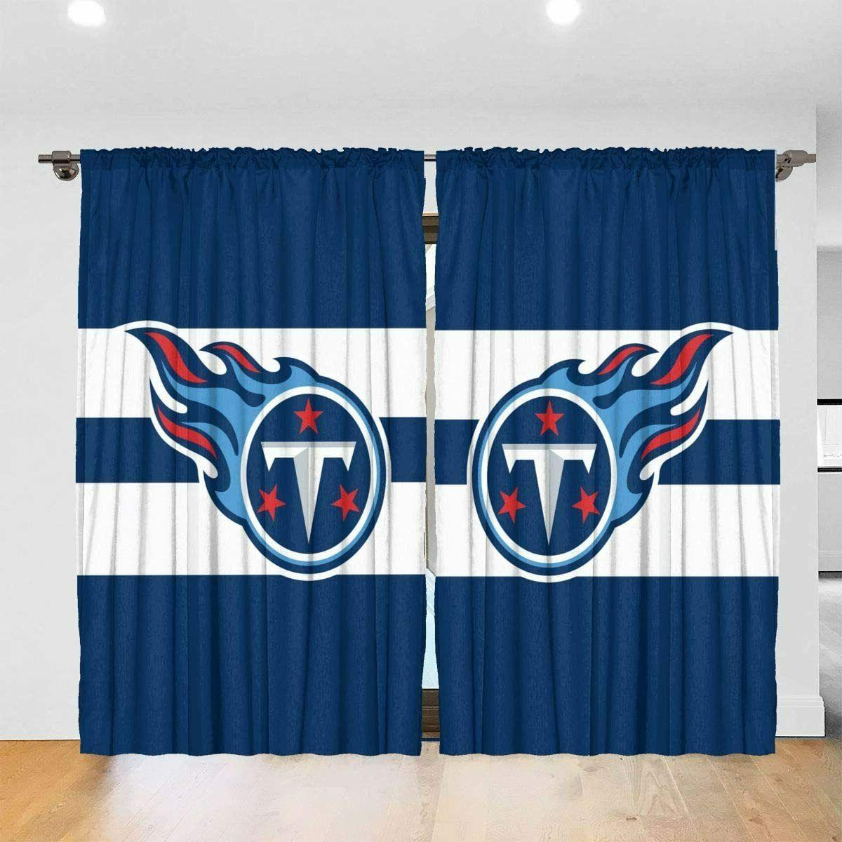 Tennessee Titans 2PC Blackout Curtain Panels Thick Solid The