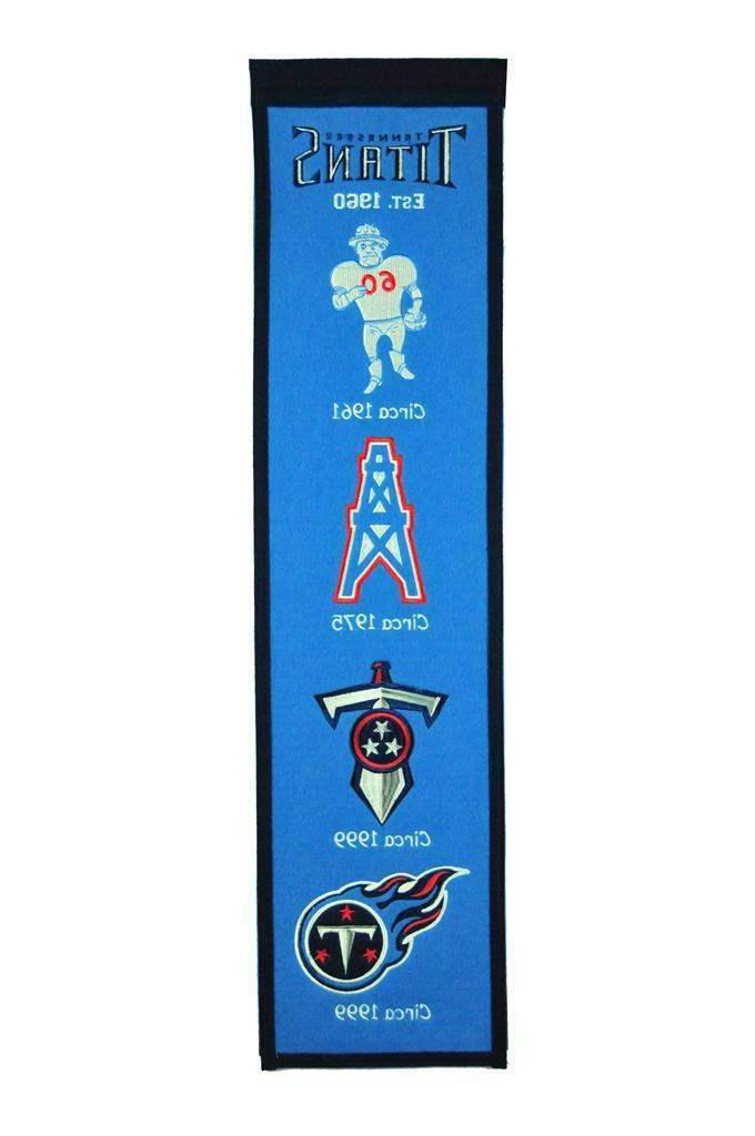 tennessee titans classic heritage banner embroidered wool