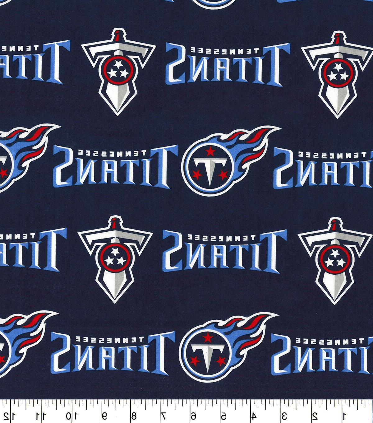 tennessee titans cotton fabricfq 1 4yd 18