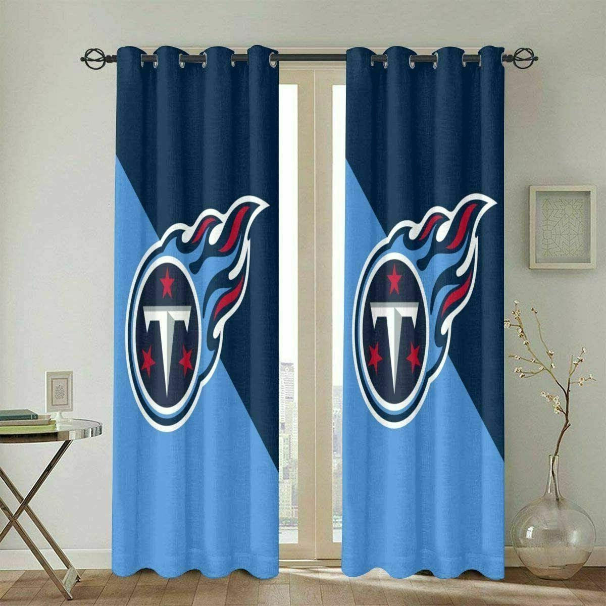 Tennessee Titans Thicken Blackout Curtains Panels Thermal Wi