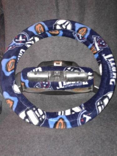 tennessee titans fleece steering wheel cover set