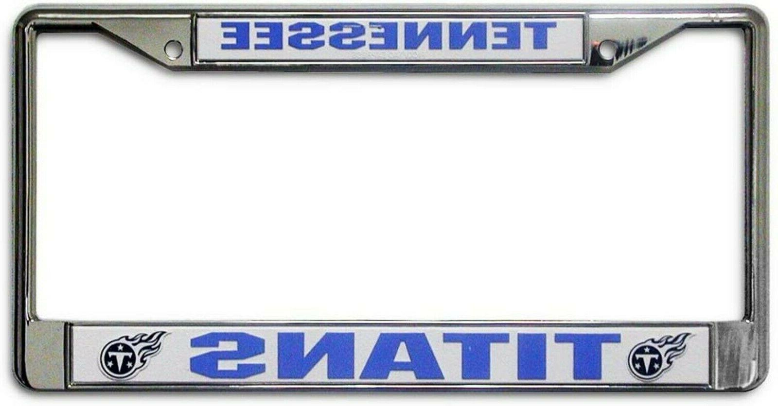 Tennessee Titans Metal Chrome License Plate Tag Frame Cover