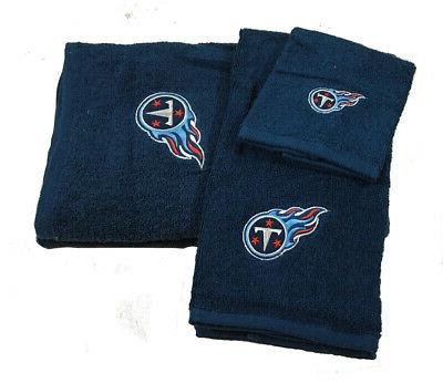 tennessee titans nfl embroidered bath