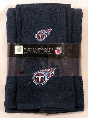 tennessee titans nfl logo 3 pc embroidered
