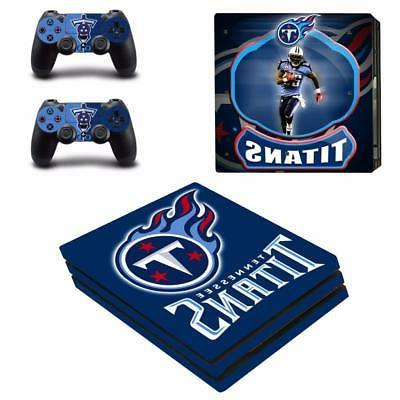 tennessee titans nfl ps4 pro console skin
