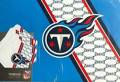 tennessee titans placemats and coasters set 4