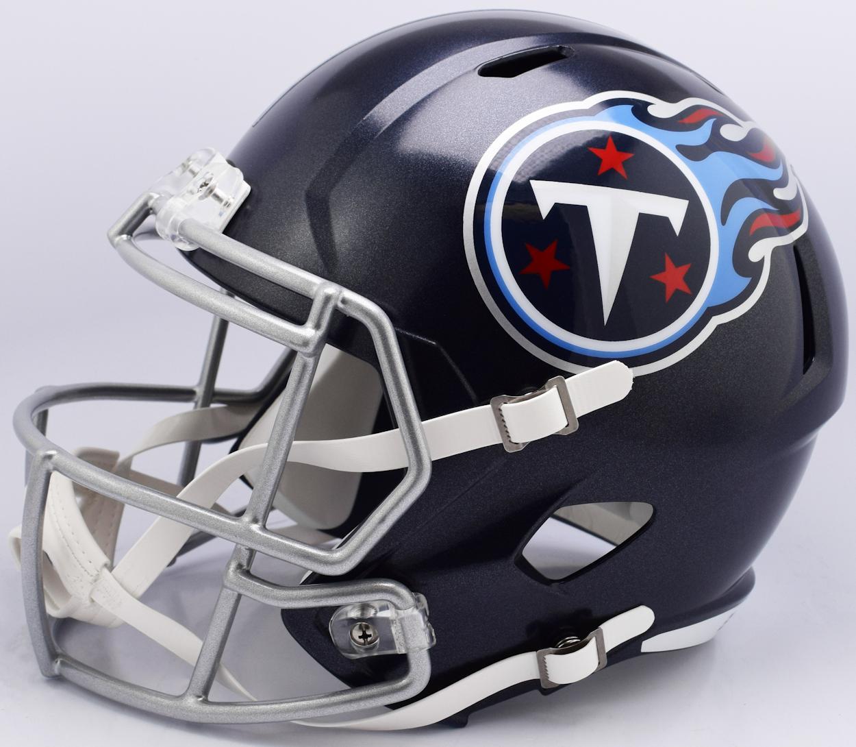 tennessee titans speed football mini helmet new