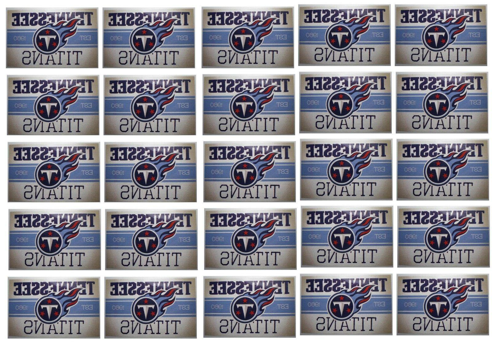 tennessee titans stickers set of 25 vintage