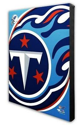 tennessee titans team logo canvas print picture