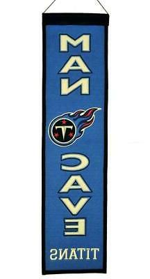 Tennessee Titans Wool Man Cave Banner  NHL Sign Wall Flag Fa