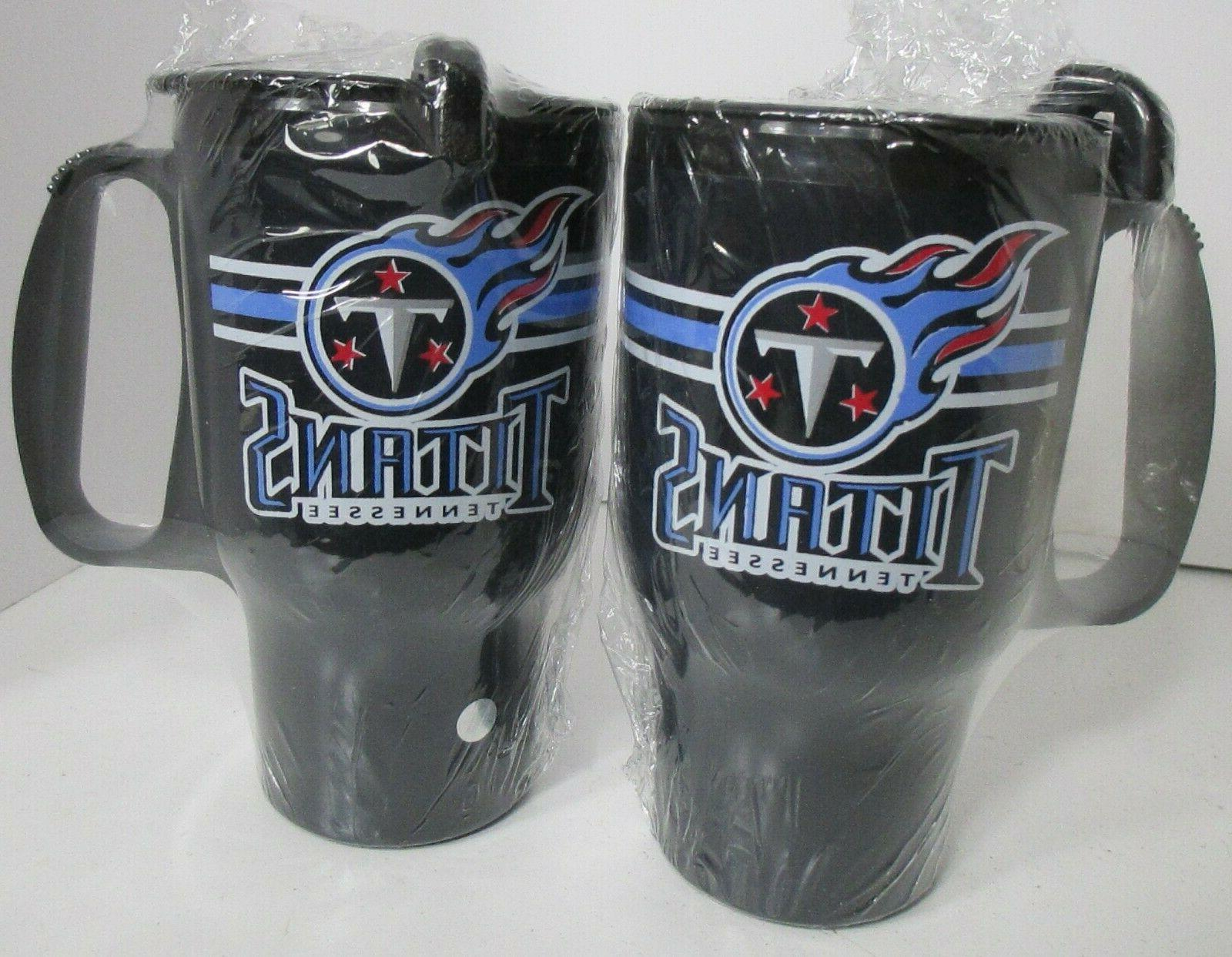 titans tennessee car mug cup 2 units