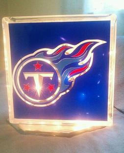 Lighted Tennessee Titans Glass Block Light~ Home Decor~Gift~