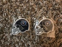 Lot of 2 Tennessee Titans Rubber Helmet Shaped Keychains NFL