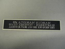 marcus mariota tennessee titans nameplate for a